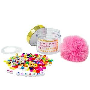 DIY Disk Bead Message Bracelets - Rainbow